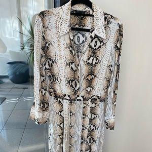 Topshop Snake Split Maxi Dress